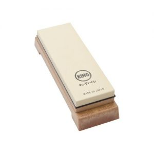 King Two Sided Knife Sharpening Stone with Base