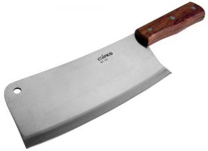 Winco Heavy Duty Cleaver Butcher Knife With Wooden Handle