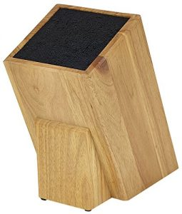 Kapoosh Dice Knife Block in Light Oak Wood grain