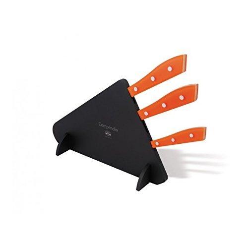 Coltellerie Berti - Compendio lucite block with 3 knives - kitchen knives set