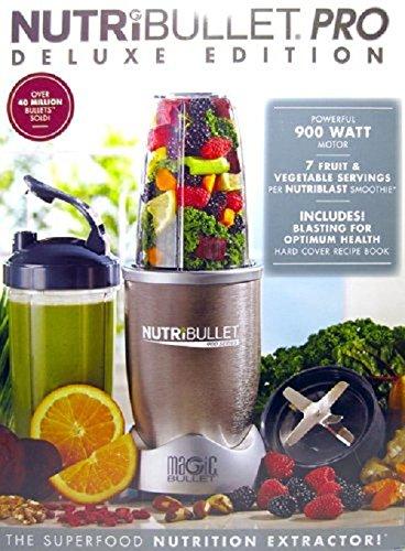 Nutribullet Pro Deluxe Edition 900-Watt Smoothie Juice Blender with Recipe Book NB9-1301