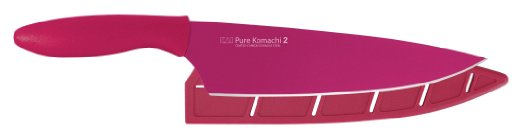 Pure Komachi 2 Series 8 inch Chef's Knife, Fuchsia