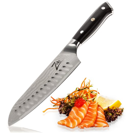 Santoku Knife 7 Inch by Zelite Infinity. Best Quality Japanese VG10 Super Steel 67 Layer High Carbon Stainless Steel