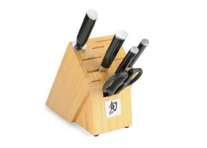 Shun Classic 6-Piece Knife Set with Bamboo Block