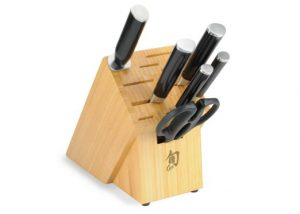 Shun Classic 7-Piece Block Set with Bamboo Block
