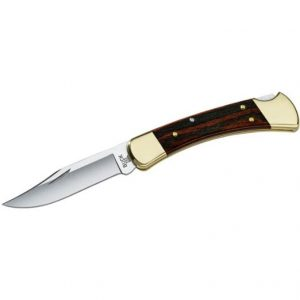 Buck Knives 0110BRS Folding Hunter, Woodgrain