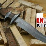 """Knife King """"Emperor"""" Custom Damascus Handmade Hunting Knife"""
