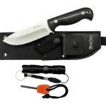 BlizeTec Survival Fixed Blade Knife: 3-in-1 Full Tang Hunting Knife