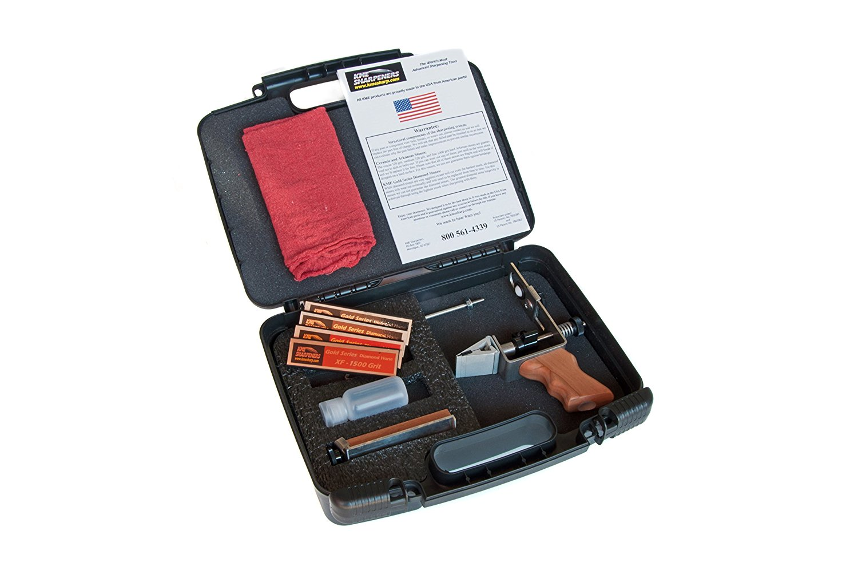 KME Precision Knife Sharpener System with 4 Gold Series Diamond Hones - Model KF-D4