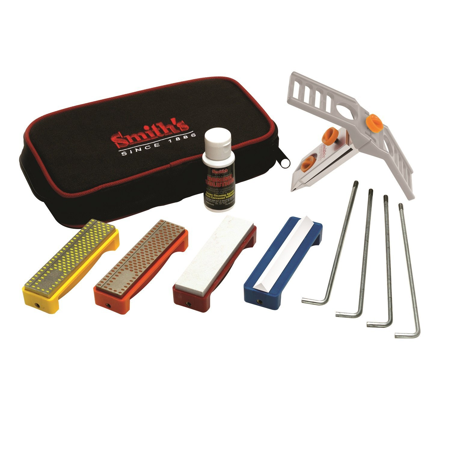 Smith's Abrasives 50591 Diamond/Arkansas Stones Precision Knife Sharpening System