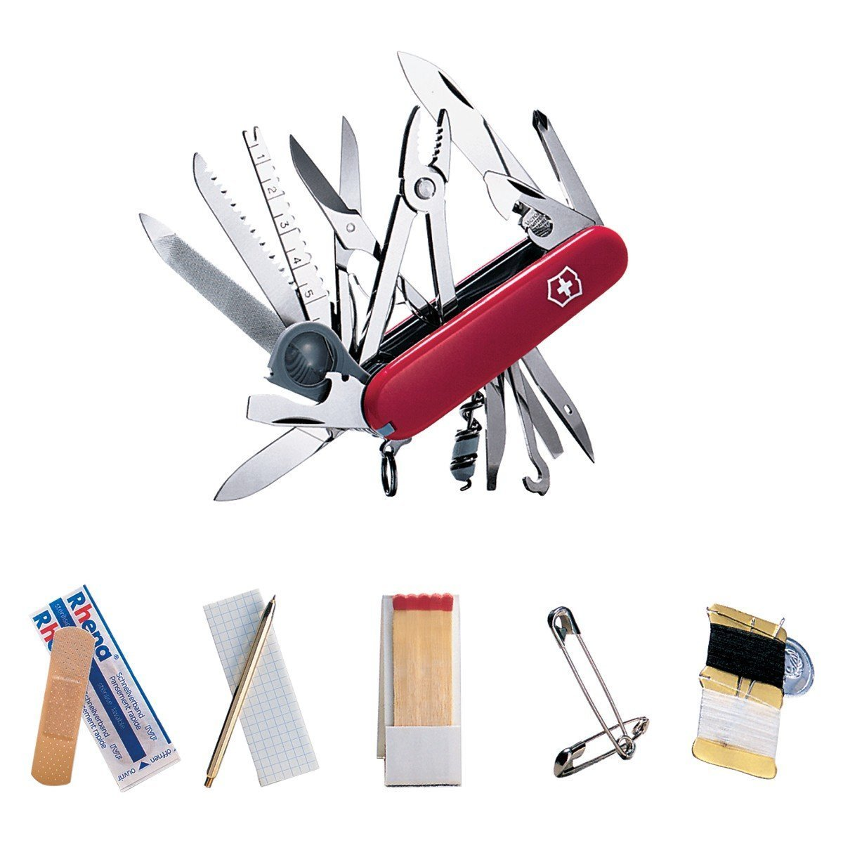 Victorinox Swiss Army Swiss Champ SOS Set Pocket Knife (Red)